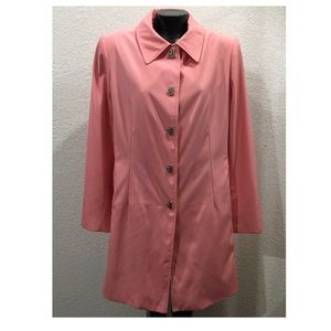 Vintage Anne Kline Large pink raincoat